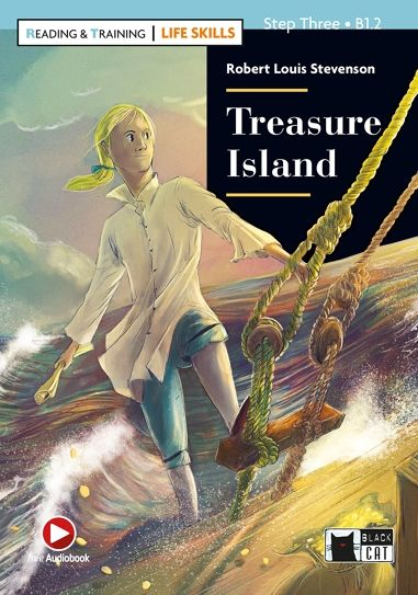 Black Cat English Graded Reader (Easy Reader): Treasure Island by Robert Louis Stevenson